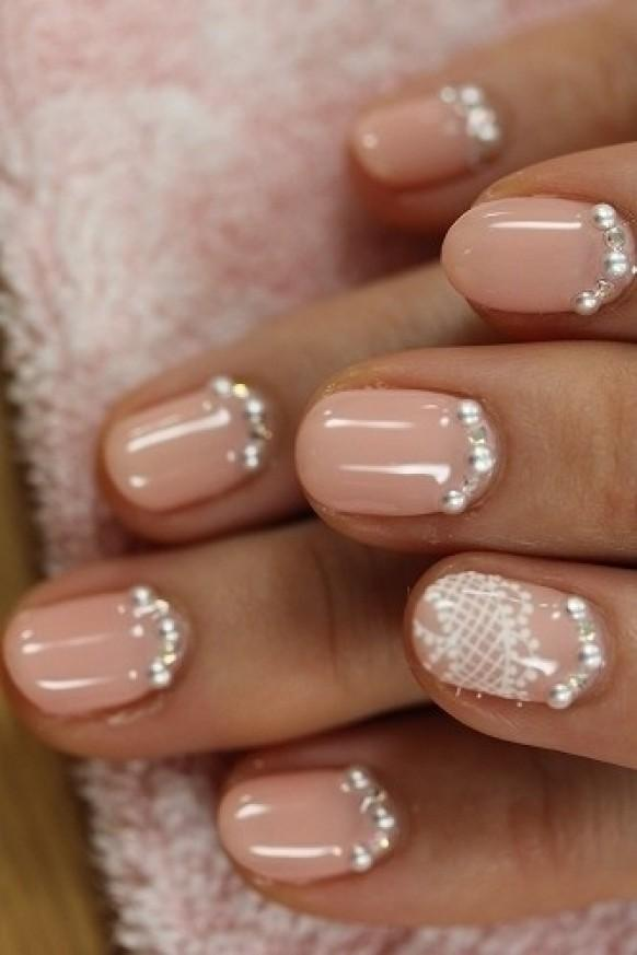 Creative And Unique Wedding Nail Design One Nail Different Color Trend 1122244