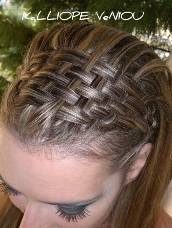 Прически с сеточкой из волос