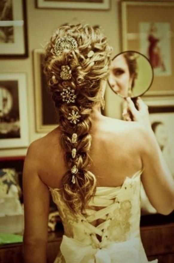 Terrific Braid Hairstyle With Brosh Hair Inpspiration 1123890 Weddbook Short Hairstyles Gunalazisus