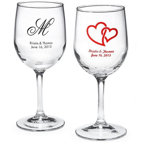 Wine wedding personalized wine glass 1182042 weddbook for How to make wedding wine glasses