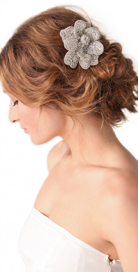 Hairstyles & Hair Accessories floral-crystal-embel