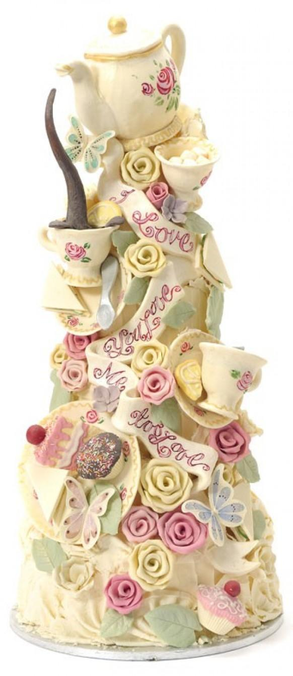 Tea Party Cake Images : Choccywoccydoodah Special Cake Design   Tea Party & Bridal ...