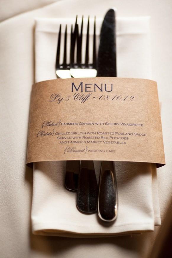 Ideas wedding details 1544775 weddbook - Presentation serviette de table ...