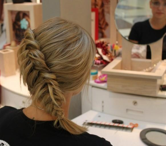 Side Braid Hairstyles For Weddings: Side French Braid Wedding Hairstyles For Long Hair