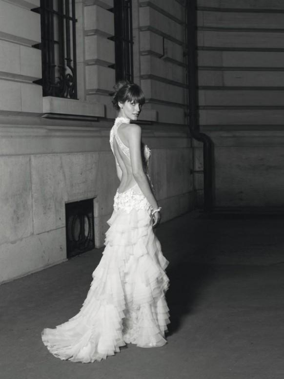 Sexy deep low cut back wedding dress cymbeline spring for Low cut back wedding dress