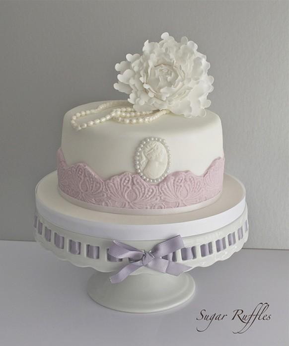 Wedding Cakes Peony And Pearls Birthday Cake 1987666