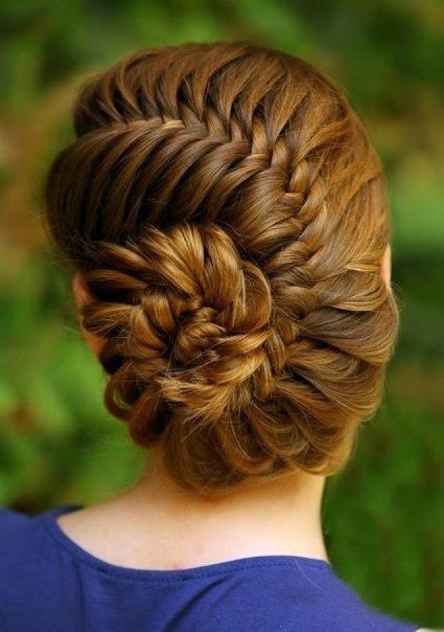 Braided Hair Model French Fishtail Braided Updo 2026601