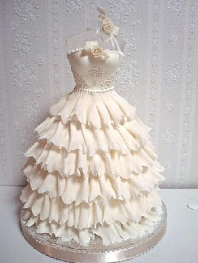 wedding dresses wedding gown shaped wedding cake 2026694 weddbook