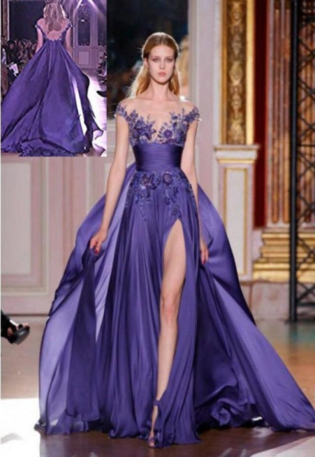 Purple wedding gorgous purple long bridesmaid gown for Formal long dresses for weddings