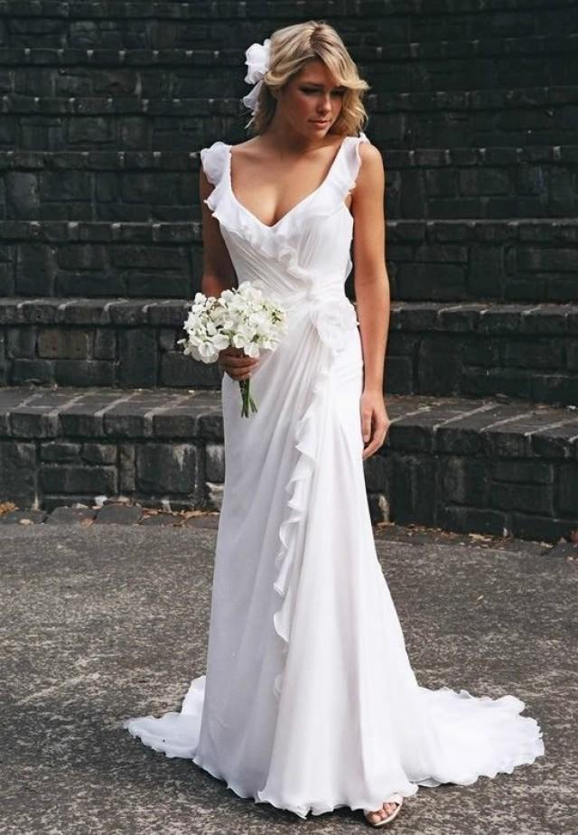 White Ivory Bridal Gown Wedding Dress Custom Size 4 6 8 10 12 14 ...