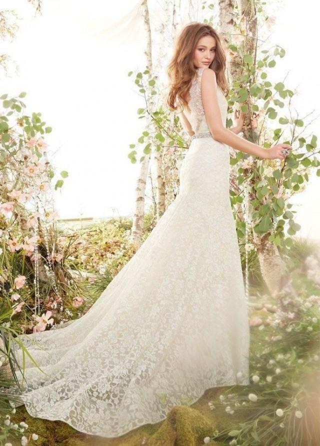 Lace Mermaid Wedding Dress Size 16 : Lace mermaid wedding dress custom size