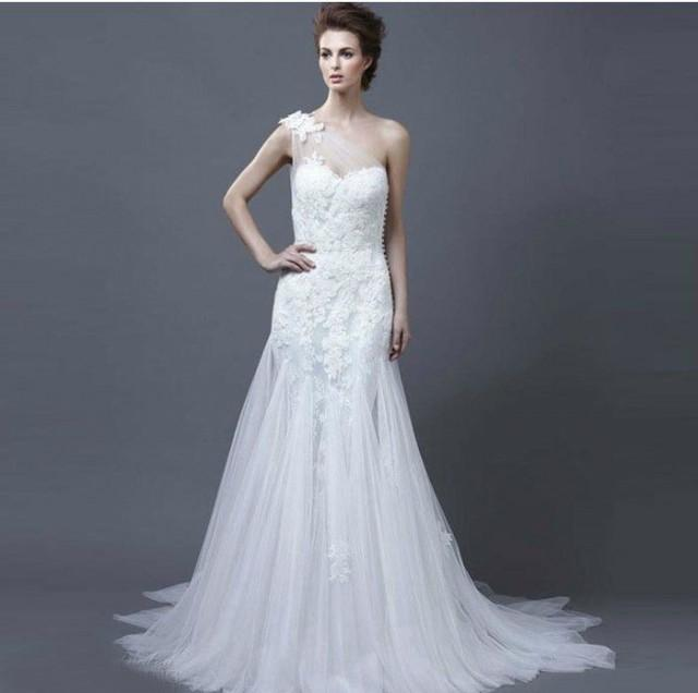 2014 new white ivory a line wedding dress size 4 6 8 10 12