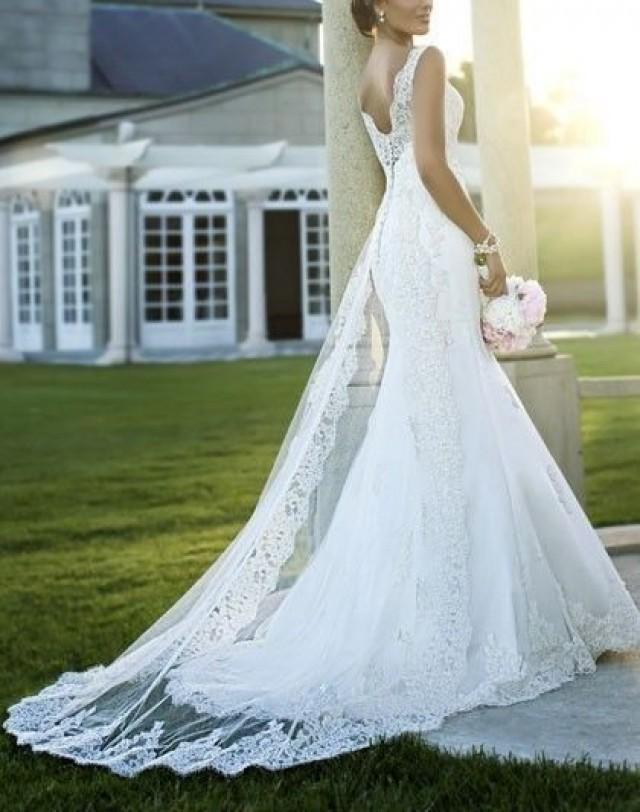 wedding photo - الحجم عالية الجودة جديد الرباط الأبيض / العاج الزفاف فستان الزفاف ثوب مهرجان مخصص