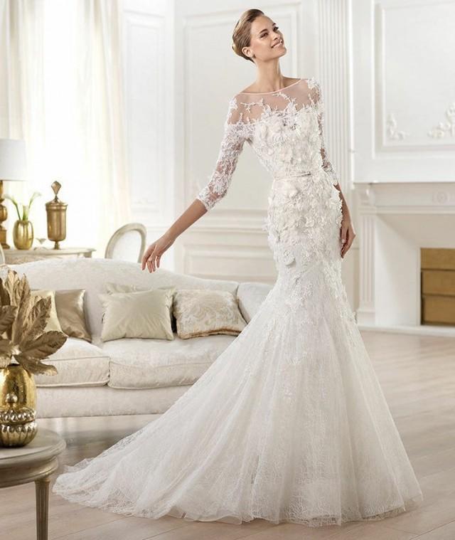 dress new white colored mermaid wedding dress 2053200. Black Bedroom Furniture Sets. Home Design Ideas
