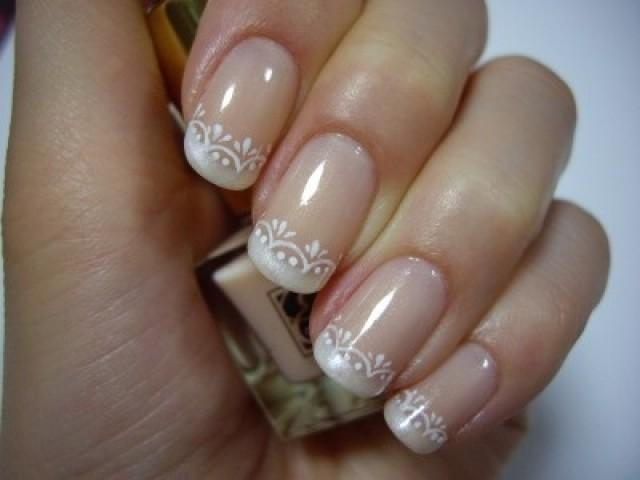 Wedding Nail Designs - New Take On A French Manicure #2057062