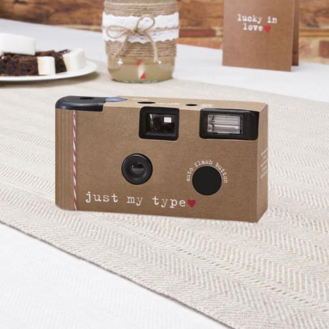1 X Wedding Disposable Camera RUSTIC JUST MY TYPE 2161352 Weddbook