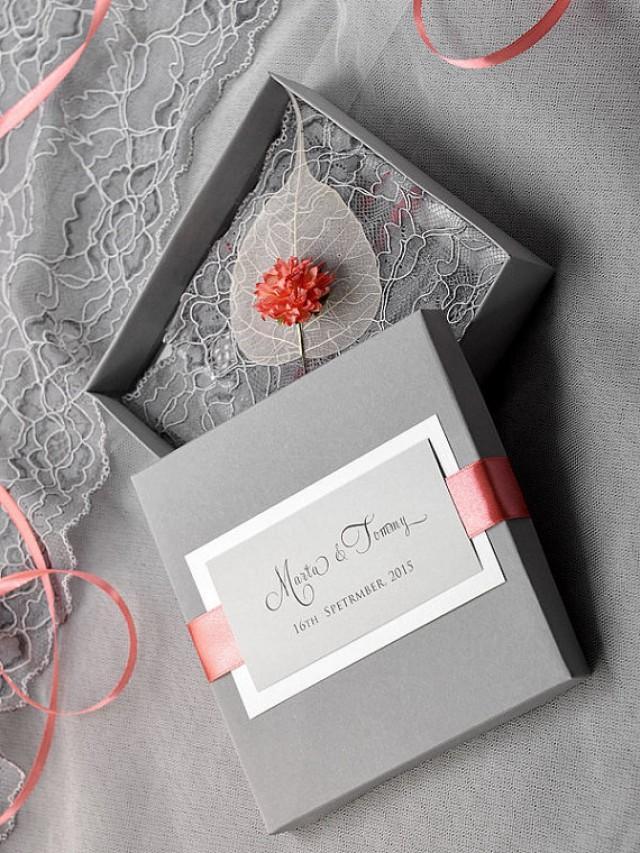 Custom Listing 100 Box And Lace Wedding Invitation