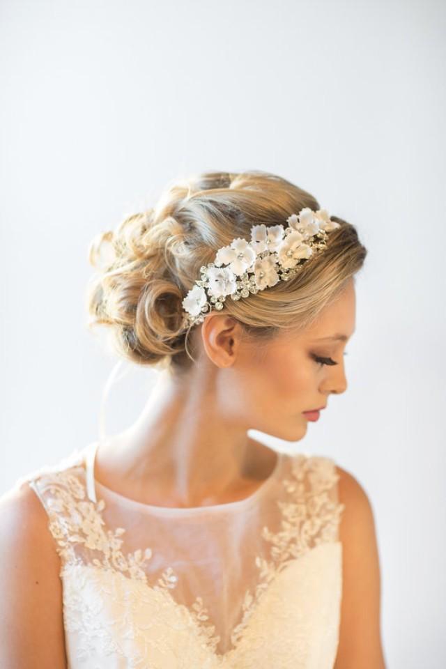 wedding headpiece bridal hair accessory bridal ribbon headband new 2219308 weddbook. Black Bedroom Furniture Sets. Home Design Ideas