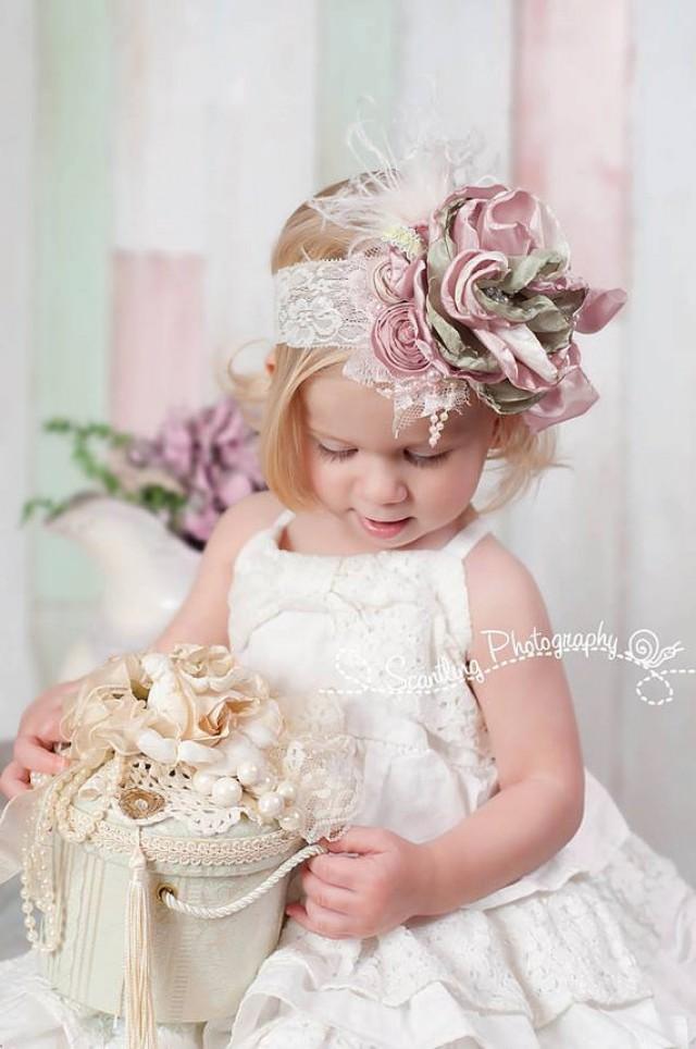 Shabby Wedding Shabby Chic Headband Spring Headbands