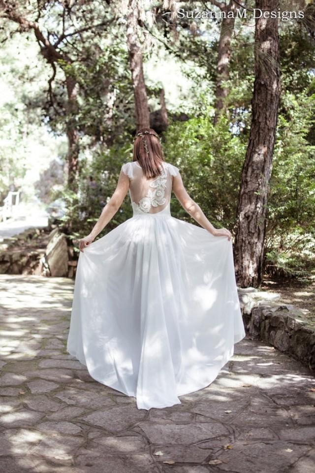Ivory Bohemian Wedding Dress Beautiful Lace Wedding Long