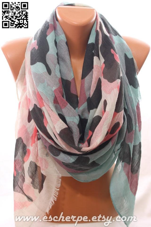 camo scarf millitary scarf lightweight summer scarf