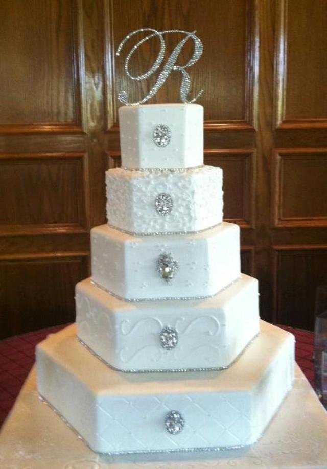 Wedding Cake Topper Letter D