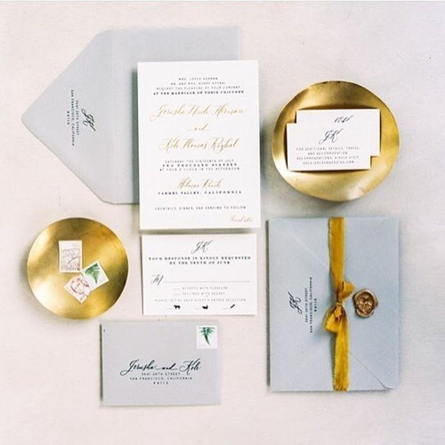 Gray and Gold Invitation