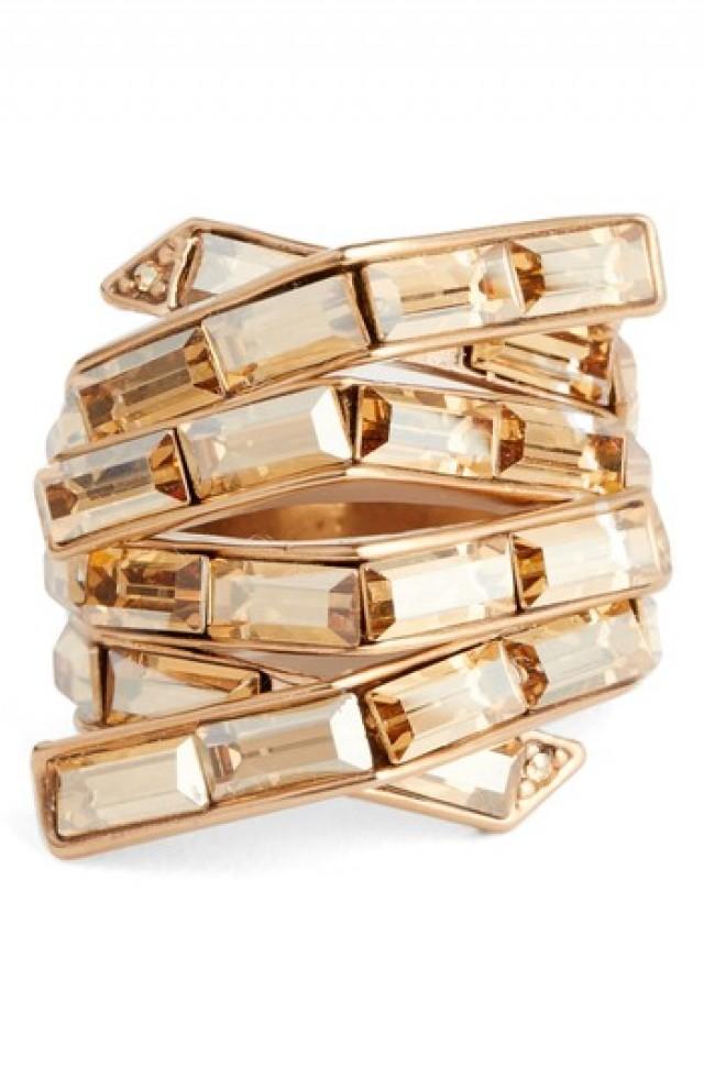 wedding photo - St. John Collection Swarovski Crystal Cocktail Ring