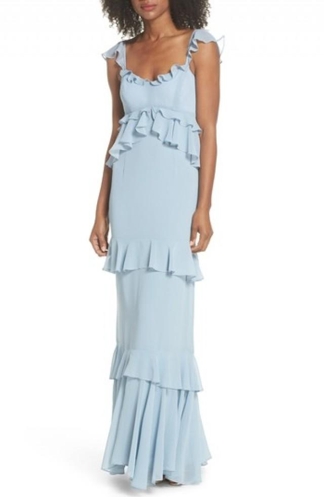 Brautjungfer - WAYF The Gywneth Ruffle Maxi Gown #2825501 - Weddbook