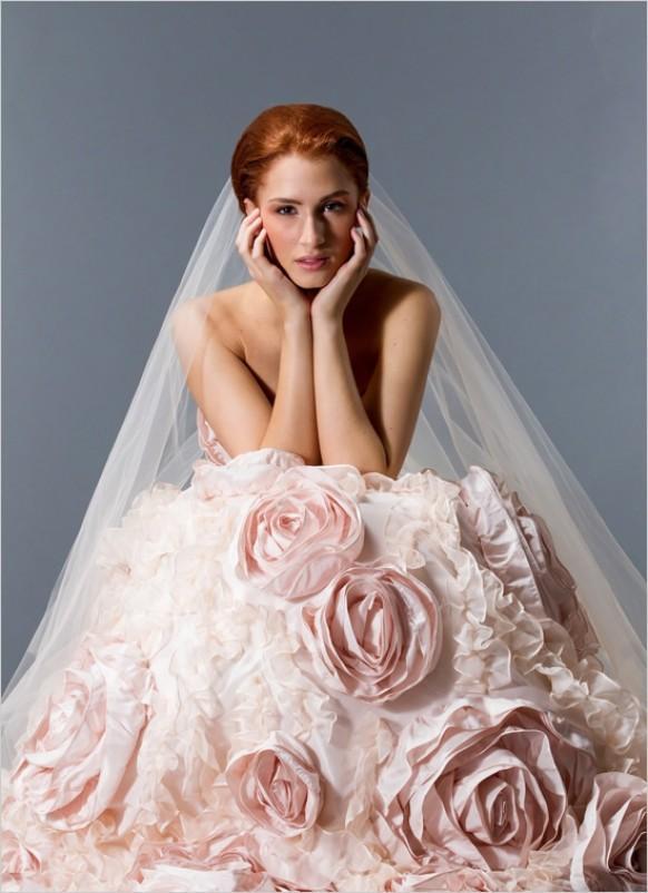 Pink wedding pink weddding dress 792416 weddbook Rose pink wedding dress