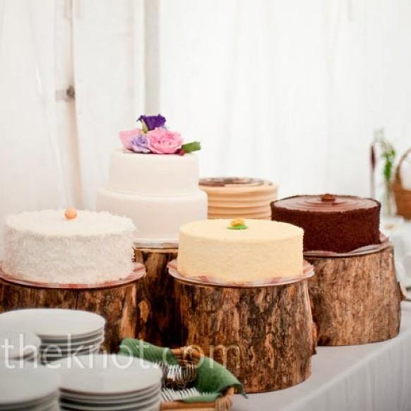 Rustic Square Wedding Cake Stands Uk
