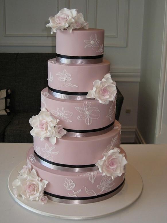Chic Fondant Wedding Cakes Hochzeitstorte Design 797272