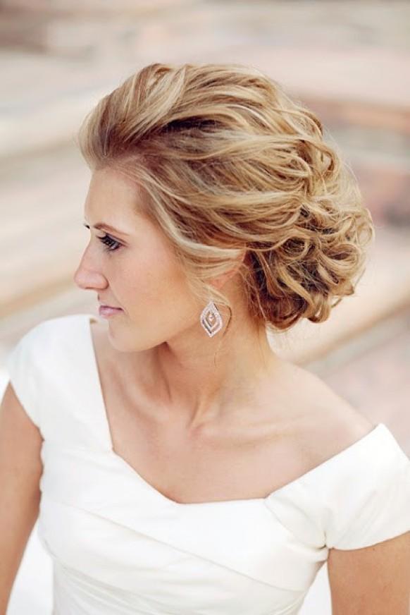 Причёски с собранными волосами на средние волосы