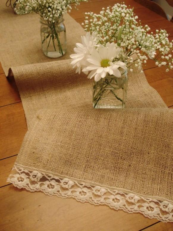 Burlap Wedding Table Decoration Ideas #802523 | Weddbook