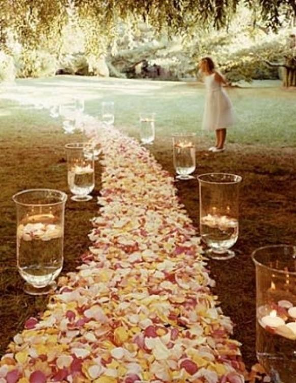 Rose wedding wedding aisle decoration ideas 802926 for Aisle wedding decoration ideas