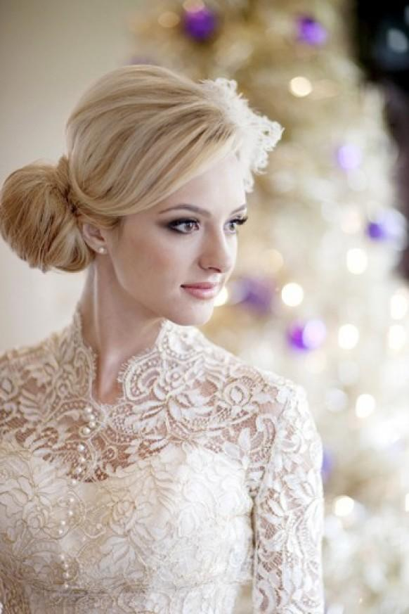 Steps On Making The Fabric Bun Wedding Hairstyle Bride Sparkle - Hairstyle with wedding gown