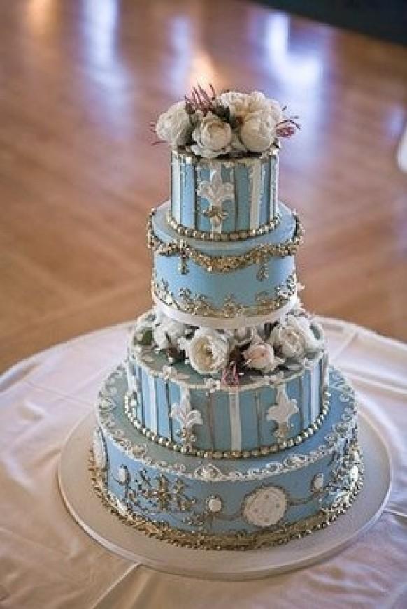 Blue Royal Wedding Cake   Special Design Wedding Cake ...