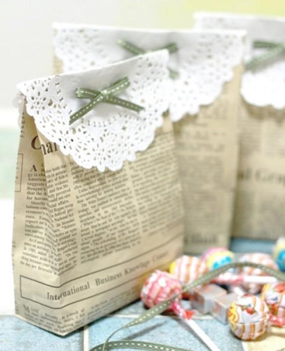 Wedding Favor Bag Ideas : DIY Vintage Wedding Favors ? Handmade Vintage Gift Bag #814404 ...