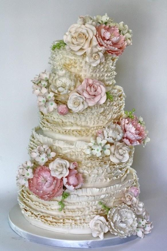 Ruffle Wedding Cakes   Wedding Cake Design #846537 - Weddbook