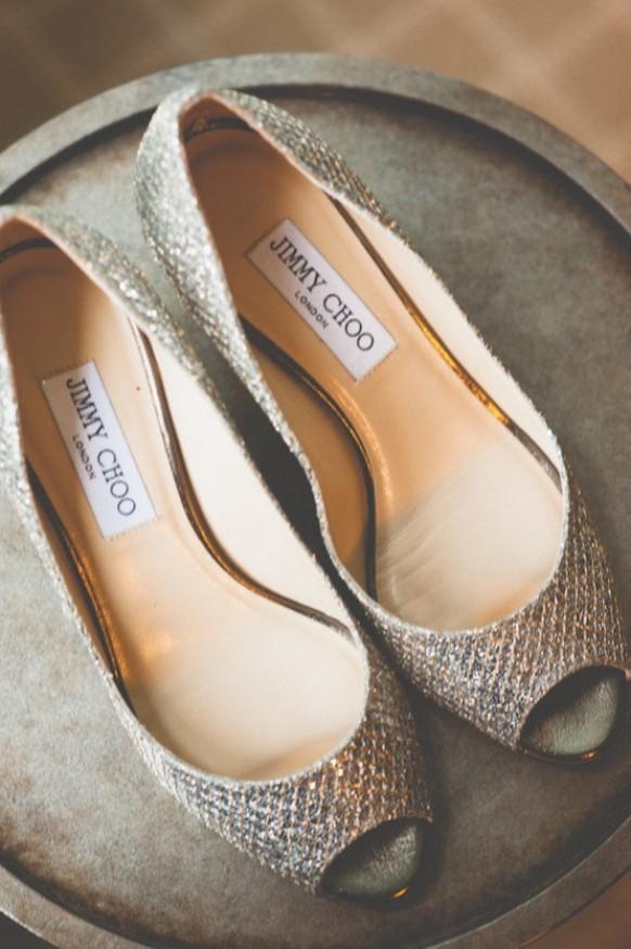 15ab755637f Chic and Fashionable Wedding Shoes ♥ Sparkly Wedding Shoes. Weddbook ♥  Silver Jimmy Choo ...