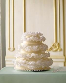 Wedding - Romantic Ruffled Wedding Cakes ♥ Wedding Cake Decorations