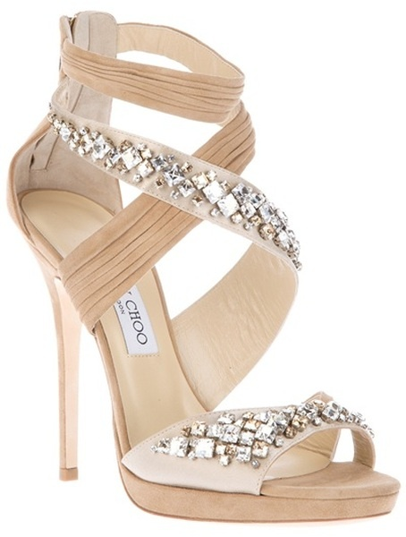 Boda - Swarovski Crystal-Embellished Sandalias de la boda