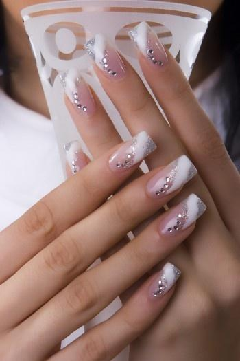 Bridal Nail Art Design Wedding Nail Art French Manicure