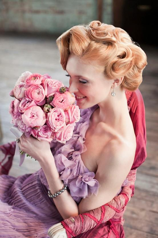 Wedding - Fairy Wedding Dress and Hairstyle ♥ Finger and Marcel Waves Wedding Hairstyle