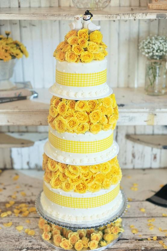 Yellow Wedding - Cakes #1171361 - Weddbook