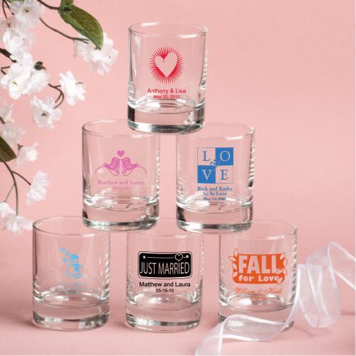 Round Shot Glass Votiv Kerzenhalter Hochzeitsbevorzugungen