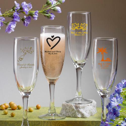 Wedding Present Champagne Glasses : Wedding Gifts - Champagne Flute Wedding Favors #1180933 - Weddbook