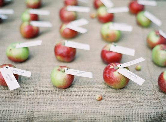 Garden Wedding > Apple Wedding Table Number Card #1298316 - Weddbook
