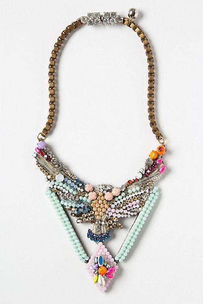 Свадьба - Бисером Phoenix Ожерелье на Shourouk ♥ Rhinestone Колье Ручной работы