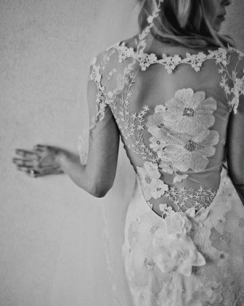 زفاف - Gorgeous Lace Back Wedding Dress ♥ Beach Wedding Dresses